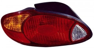 1999 -  2000 Hyundai Elantra Rear Tail Light Assembly Replacement / Lens / Cover - Left (Driver) Side - (4 Door; Sedan)