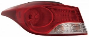 2011 -  2013 Hyundai Elantra Rear Tail Light Assembly Replacement / Lens / Cover - Left (Driver) Side Outer - (Sedan)