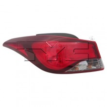 2014 -  2016 Hyundai Elantra Rear Tail Light Assembly Replacement / Lens / Cover - Left (Driver) Side Outer