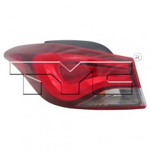 2011 -  2016 Hyundai Elantra Rear Tail Light Assembly Replacement / Lens / Cover - Left (Driver) Side Outer