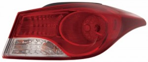 2011 -  2013 Hyundai Elantra Rear Tail Light Assembly Replacement / Lens / Cover - Right (Passenger) Side Outer - (Sedan)