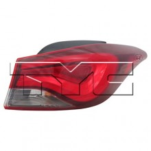 2011 -  2016 Hyundai Elantra Rear Tail Light Assembly Replacement / Lens / Cover - Right (Passenger) Side Outer