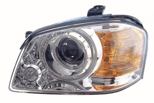 2003 -  2004 Kia Optima Front Headlight Assembly Replacement Housing / Lens / Cover - Left (Driver) Side