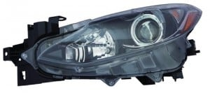 2014 - 2016 Mazda 3 Front Headlight Assembly Replacement Housing / Lens / Cover - Left (Driver) Side - (Sedan)