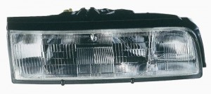 1988 - 1992 Mazda 626 Front Headlight Assembly Replacement Housing / Lens / Cover - Right (Passenger) Side