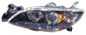 2004 - 2006 Mazda 3 Front Headlight Assembly Replacement Housing / Lens / Cover - Left (Driver) Side - (Sedan)