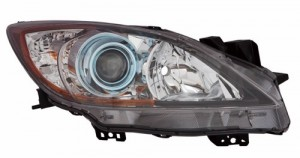 2012 - 2013 Mazda 3 Front Headlight Assembly Replacement Housing / Lens / Cover - Left (Driver) Side - (6 Speed Transmission)