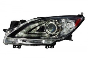 2010 - 2013 Mazda 3 Front Headlight Assembly Replacement Housing / Lens / Cover - Left (Driver) Side - (Sedan + Hatchback)