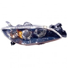2004 - 2009 Mazda 3 Front Headlight Assembly Replacement Housing / Lens / Cover - Right (Passenger) Side - (Sedan)
