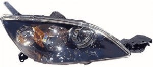 2004 - 2005 Mazda 3 Front Headlight Assembly Replacement Housing / Lens / Cover - Right (Passenger) Side - (Hatchback)