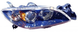 2004 - 2006 Mazda 3 Front Headlight Assembly Replacement Housing / Lens / Cover - Right (Passenger) Side - (Sedan)