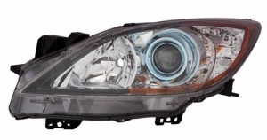 2012 - 2013 Mazda 3 Front Headlight Assembly Replacement Housing / Lens / Cover - Right (Passenger) Side - (6 Speed Transmission)