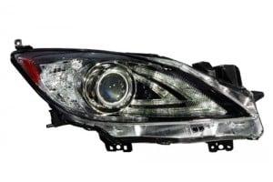 2010 - 2013 Mazda 3 Front Headlight Assembly Replacement Housing / Lens / Cover - Right (Passenger) Side - (Sedan + Hatchback)