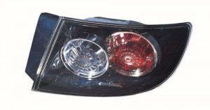 2007 - 2009 Mazda 3 Rear Tail Light Assembly Replacement / Lens / Cover - Right (Passenger) Side Outer - (Sedan)