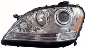 2006 - 2007 Mercedes-Benz ML350 Front Headlight Assembly Replacement Housing / Lens / Cover - Left (Driver) Side