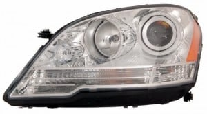 2008 - 2011 Mercedes-Benz ML350 Front Headlight Assembly Replacement Housing / Lens / Cover - Left (Driver) Side - (164.186 Body Code + 164.156 Body Code + 164.125 Body Code)