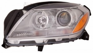 2012 - 2012 Mercedes-Benz ML350 Front Headlight Assembly Replacement Housing / Lens / Cover - Left (Driver) Side - (166.057 Body Code + 166.024 Body Code + 166.058 Body Code)