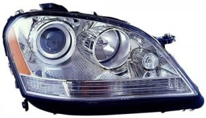 2006 - 2007 Mercedes-Benz ML350 Front Headlight Assembly Replacement Housing / Lens / Cover - Right (Passenger) Side