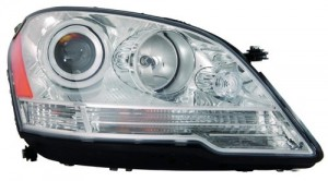 2008 - 2011 Mercedes-Benz ML350 Front Headlight Assembly Replacement Housing / Lens / Cover - Right (Passenger) Side - (164.186 Body Code + 164.156 Body Code + 164.125 Body Code)
