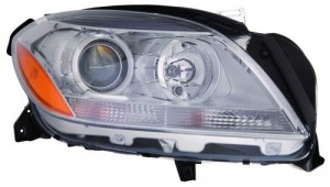 2012 - 2012 Mercedes-Benz ML350 Front Headlight Assembly Replacement Housing / Lens / Cover - Right (Passenger) Side - (166.057 Body Code + 166.024 Body Code + 166.058 Body Code)