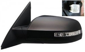 2007 -  2012 Nissan Altima Side View Mirror Assembly / Cover / Glass Replacement - Left (Driver) Side - (Gas Hybrid + 3.5L V6 Sedan)