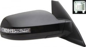 2008 -  2011 Nissan Altima Side View Mirror Assembly / Cover / Glass Replacement - Right (Passenger) Side - (3.5L V6 Coupe)