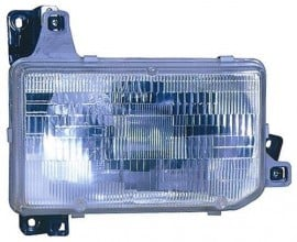 1987 -  1995 Nissan Pathfinder Front Headlight Assembly Replacement Housing / Lens / Cover - Left (Driver) Side