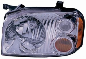 2001 - 2004 Nissan Frontier Front Headlight Assembly Replacement Housing / Lens / Cover - Left (Driver) Side - (XE)