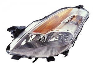 2008 -  2009 Nissan Altima Front Headlight Assembly Replacement Housing / Lens / Cover - Left (Driver) Side - (Coupe)