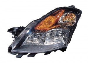 2008 -  2009 Nissan Altima Front Headlight Assembly Replacement Housing / Lens / Cover - Left (Driver) Side - (Sedan)