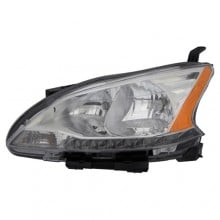 2013 - 2015 Nissan Sentra Front Headlight Assembly Replacement Housing / Lens / Cover - Left (Driver) Side