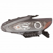 2016 - 2018 Nissan Altima Headlight Assembly - Left (Driver) Side - (S 2.5L L4 Sedan + Base 2.5L L4 Sedan + SL 2.5L L4, 3.5L V6 Sedan + SV 2.5L L4 Sedan + SR 2.5L L4, 3.5L V6 Sedan + Advance 2.5L L4 Sedan + Exclusive 3.5L V6 Sedan + Sense 2.5L L4 Sedan) Replacement