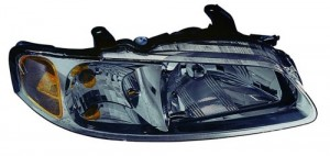 2000 - 2001 Nissan Sentra Front Headlight Assembly Replacement Housing / Lens / Cover - Right (Passenger) Side