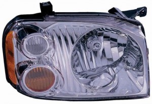2001 - 2004 Nissan Frontier Front Headlight Assembly Replacement Housing / Lens / Cover - Right (Passenger) Side - (XE)