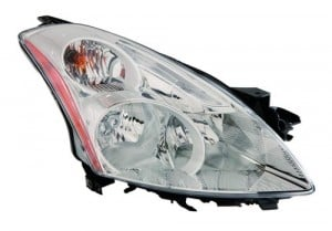 2010 -  2012 Nissan Altima Front Headlight Assembly Replacement Housing / Lens / Cover - Right (Passenger) Side - (Sedan)