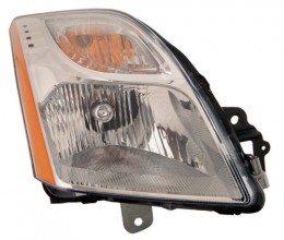 2010 - 2012 Nissan Sentra Front Headlight Assembly Replacement Housing / Lens / Cover - Right (Passenger) Side - (Base Model 2.0L L4 + S 2.0L L4 + SL 2.0L L4)