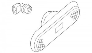 2002 - 2004 Suzuki Aerio Rear Marker Light - Right (Passenger)