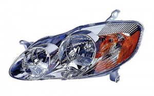 2003 -  2004 Toyota Corolla Front Headlight Assembly Replacement Housing / Lens / Cover - Left (Driver) Side - (CE + LE)