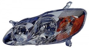 2003 - 2004 Toyota Corolla Front Headlight Assembly Replacement Housing / Lens / Cover - Left (Driver) Side - (S)