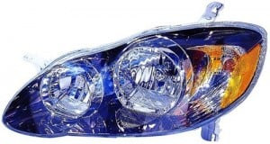 2005 -  2008 Toyota Corolla Front Headlight Assembly Replacement Housing / Lens / Cover - Left (Driver) Side - (S + XRS)
