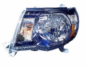 2005 - 2011 Toyota Tacoma Front Headlight Assembly Replacement Housing / Lens / Cover - Left (Driver) Side - (Pre Runner + X-Runner)