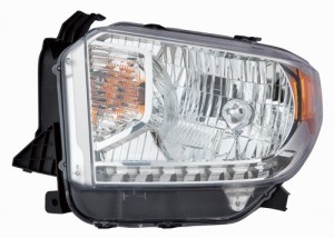 2014 - 2015 Toyota Tundra Front Headlight Assembly Replacement Housing / Lens / Cover - Left (Driver) Side - (Limited + SR + SR5)