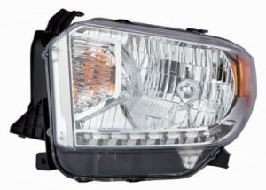 2014 - 2017 Toyota Tundra Front Headlight Assembly Replacement Housing / Lens / Cover - Left (Driver) Side - (Limited + SR + SR5)