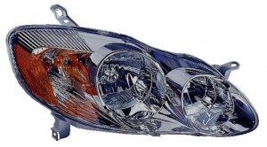 2003 -  2004 Toyota Corolla Front Headlight Assembly Replacement Housing / Lens / Cover - Right (Passenger) Side - (S)