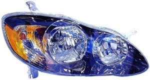 2005 -  2008 Toyota Corolla Front Headlight Assembly Replacement Housing / Lens / Cover - Right (Passenger) Side - (S + XRS)