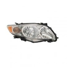 2009 -  2010 Toyota Corolla Front Headlight Assembly Replacement Housing / Lens / Cover - Right (Passenger) Side - (Base Model + CE + LE)
