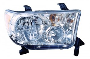 2009 -  2013 Toyota Tundra Front Headlight Assembly Replacement Housing / Lens / Cover - Right (Passenger) Side