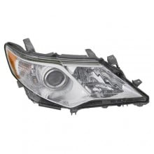 2012 -  2014 Toyota Camry Front Headlight Assembly Replacement Housing / Lens / Cover - Right (Passenger) Side - (Gas Hybrid + Hybrid LE + Hybrid XLE + L + LE + XLE)