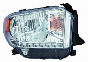 2014 - 2017 Toyota Tundra Front Headlight Assembly Replacement Housing / Lens / Cover - Right (Passenger) Side - (Limited + SR + SR5)
