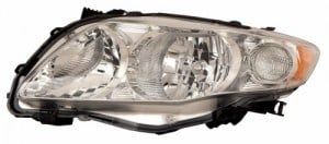 2009 - 2010 Toyota Corolla Front Headlight Assembly Replacement Housing / Lens / Cover - Left (Driver) Side